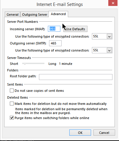 Outlook Email Settings for Secure (SSL) Email Access   Nutty