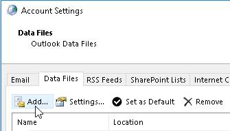 Add a new data file