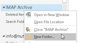 Add Folder to Archive Data File