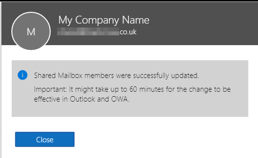 Select Members to add to mailbox