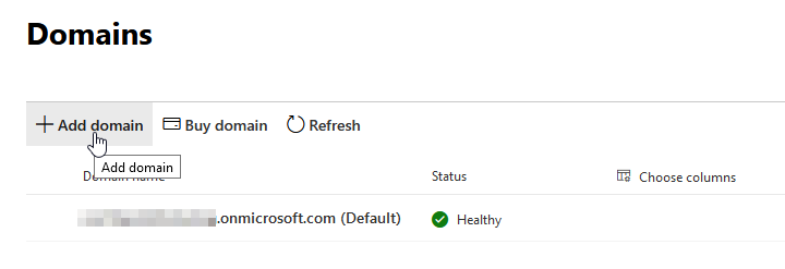 Office 365 - Add Domain