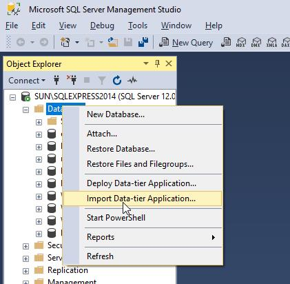 How to Restore Azure BacPac file to MS SQL Database | Nutty