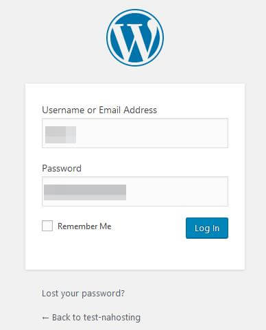 Log into your WordPress site.